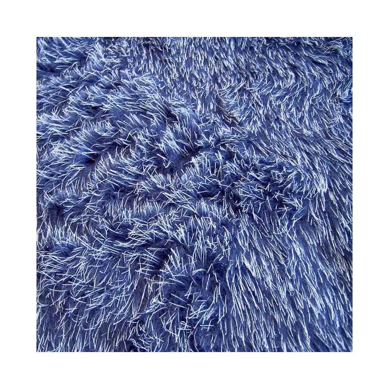 kunstfell blau wei fest robust pl sch fell stoff kr. Black Bedroom Furniture Sets. Home Design Ideas