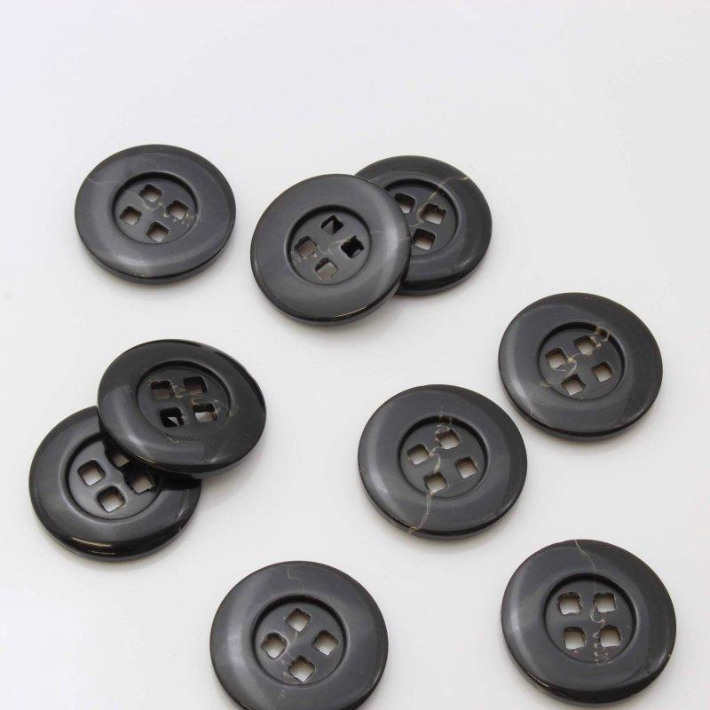kunststoff knopf schwarz glatt 28mm gross mantel jacke 1. Black Bedroom Furniture Sets. Home Design Ideas